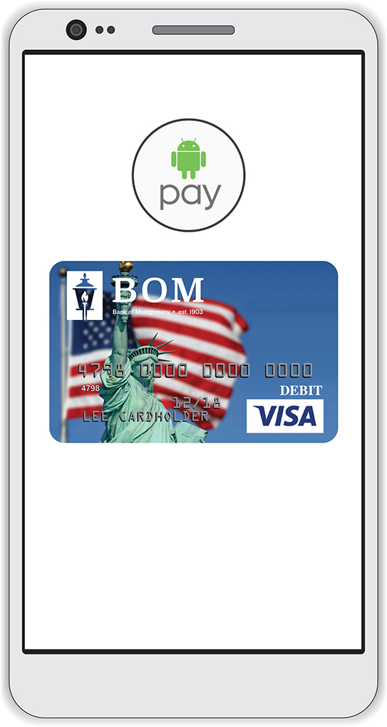 Android Pay with BOM logo