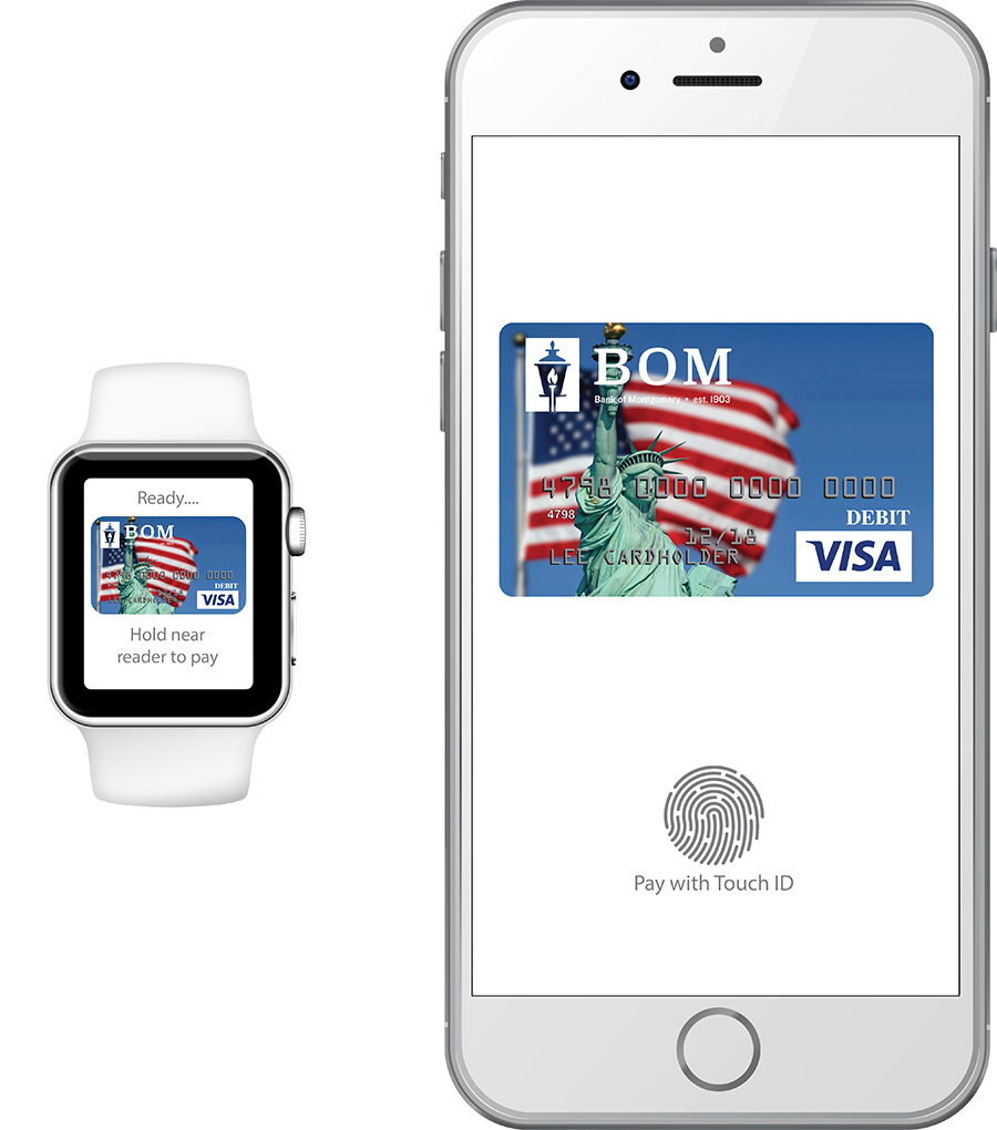 Apple Pay with BOM logo